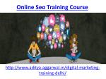 online seo training course 2