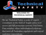 welcome to technical safety