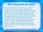 who should take this exam