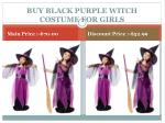 buy black purple witch costume for girls