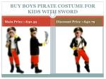 buy boys pirate costume for kids with sword