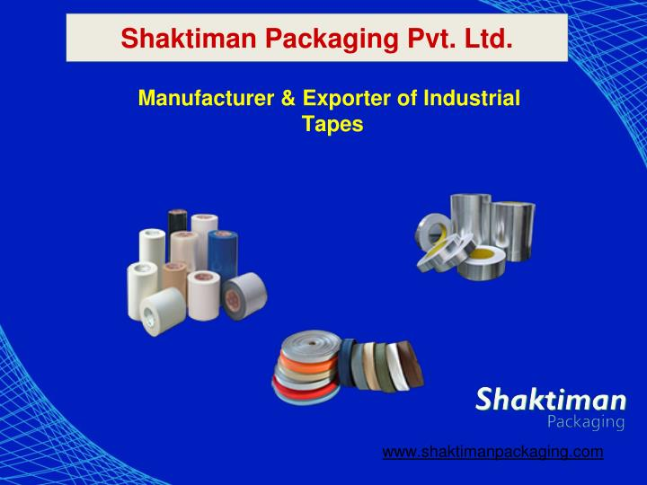manufacturer exporter of industrial tapes n.