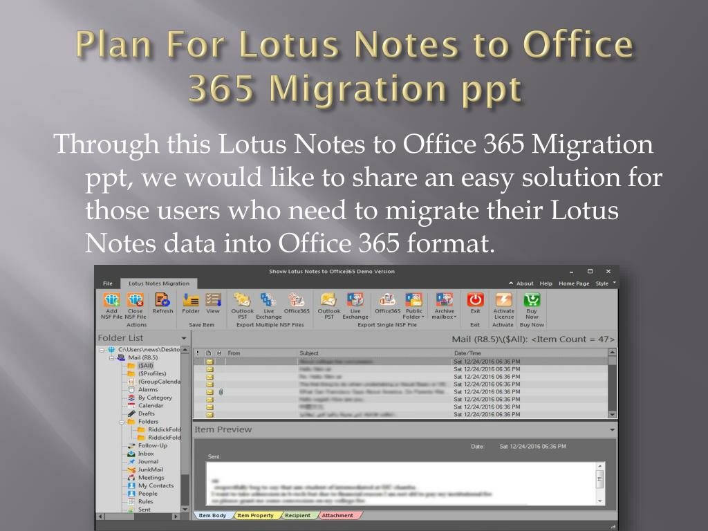 Office 365 Migration Plan Ppt