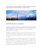 brief introduction to guangzhou guideline