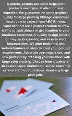 banners posters and other large print products