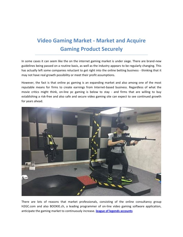 video gaming market market and acquire gaming n.
