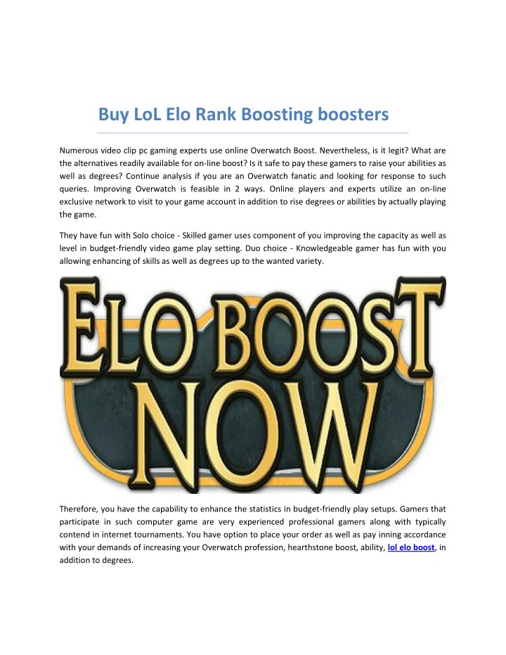 buy lol elo rank boosting boosters n.