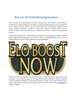 buy lol elo rank boosting boosters
