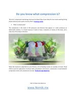 do you know what compression is