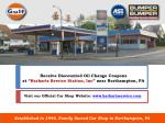 receive discounted oil change coupons at harharts service station inc near northampton pa