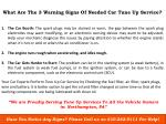 what are the 3 warning signs of needed car tune