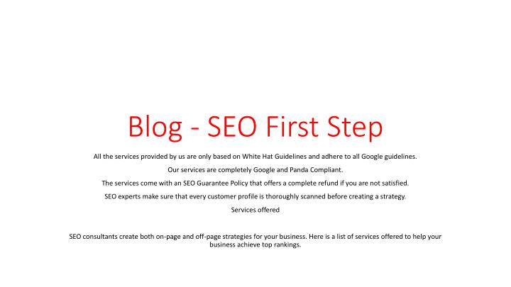 blog seo first step n.