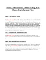 renew ellec cream where to buy side effects trial
