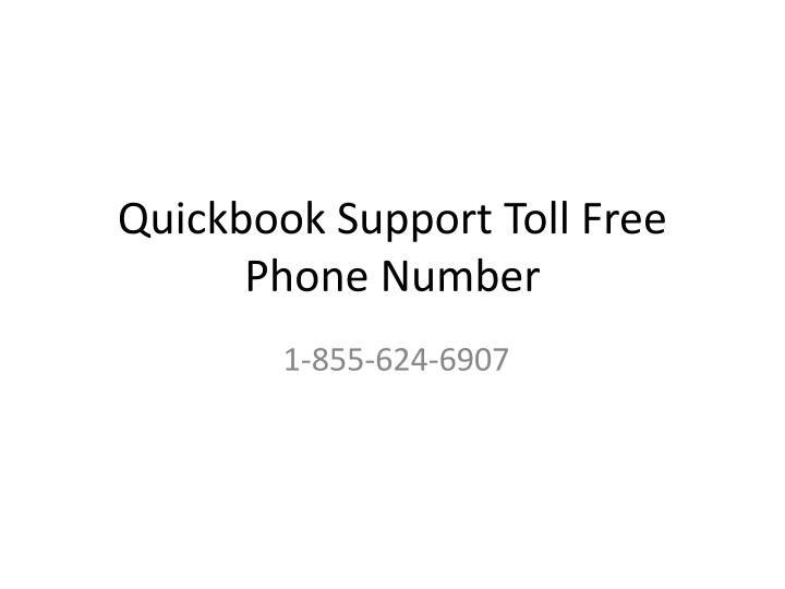 quickbook support toll free phone number n.