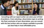consulting with our expert writer can solve your