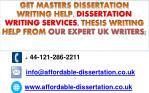 get masters dissertation writing help