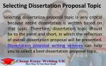 selecting dissertation proposal topic