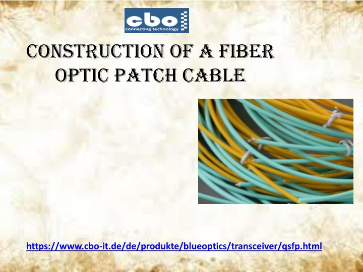 construction of a fiber optic patch cable n.