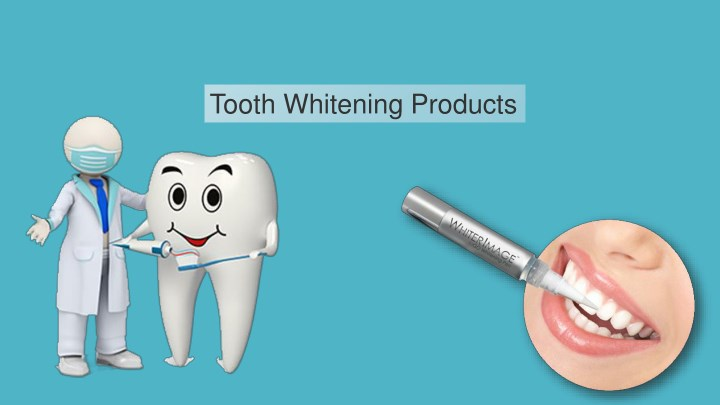 tooth whitening products n.