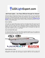 led flood lights are these efficient enough
