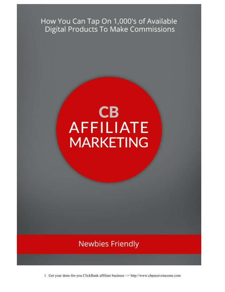 1 get your done for you clickbank affiliate n.