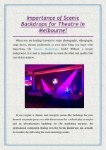importance of scenic backdrops for theatre