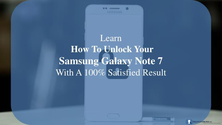learn how to unlock your samsung galaxy note n.