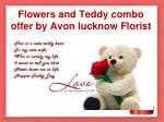 flowers and teddy combo offer by avon lucknow florist