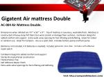 gigatent air mattress double