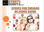 events for indians in hong kong