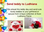send teddy to ludhiana