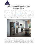 advantages of stainless steel kitchen racks