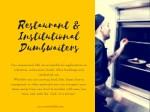 restaurant institutional dumbwaiters