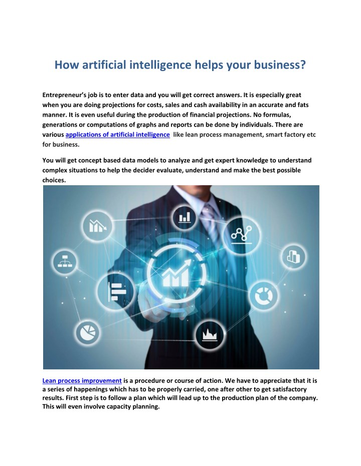 how artificial intelligence helps your business n.
