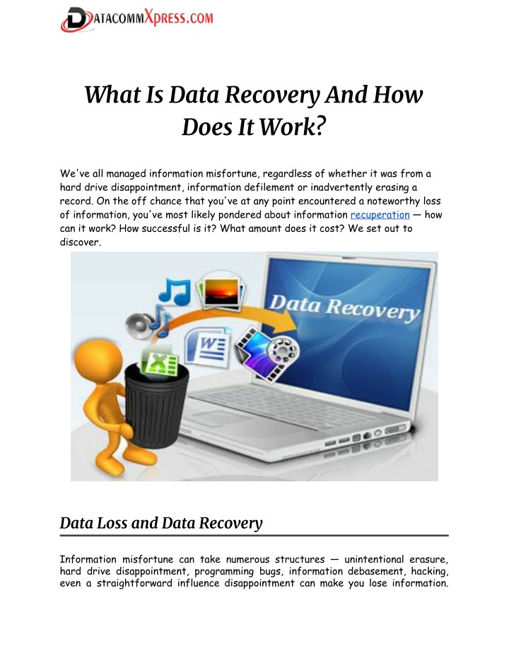 what is data recovery and how does it work n.