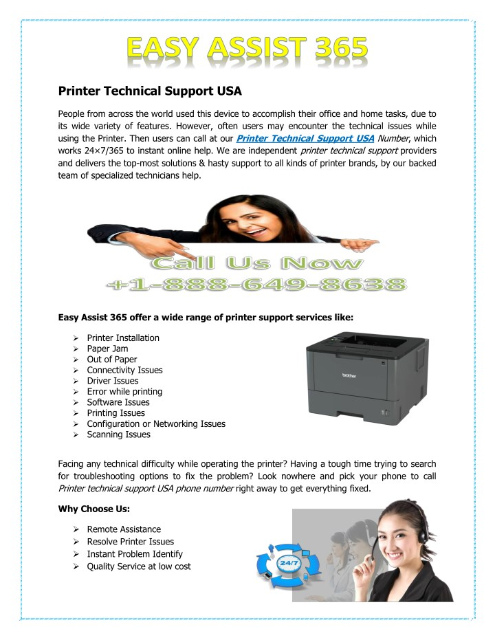 printer technical support usa n.