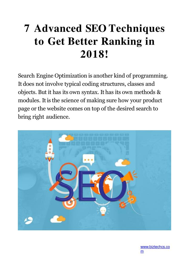 7 advanced seo techniques to get better ranking in 2018 n.