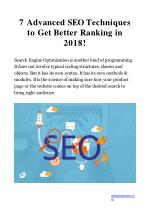7 advanced seo techniques to get better ranking in 2018