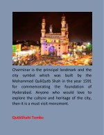 charminar is the principal landmark and the city