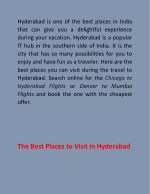 hyderabad is one of the best places in india that