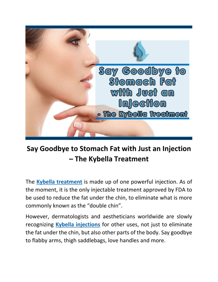 say goodbye to stomach fat with just an injection n.