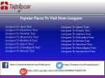 popular places to visit from gurgaon