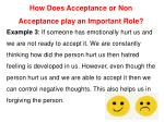 how does acceptance or non acceptance play 2