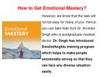 how to get emotional mastery