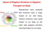 impact of negative emotions or negative thoughts