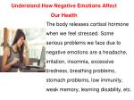 understand how negative emotions affect our health