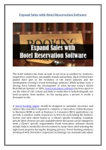 expand sales with hotel reservation software