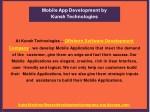 mobile app development by kunsh technologies