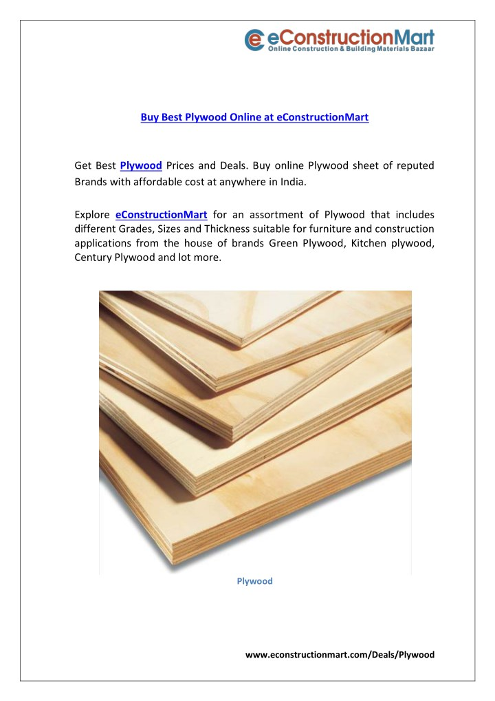 buy best plywood online at econstructionmart n.