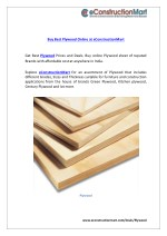 buy best plywood online at econstructionmart